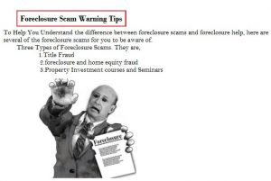 zack childress scam-foreclosure scam warning tips