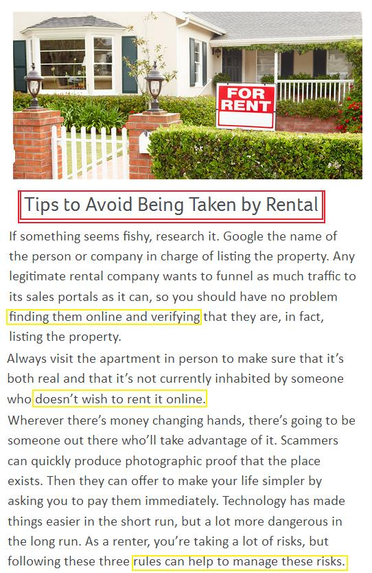 zack childress scam tips to avoid rental scam