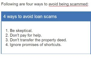 zack childress scam-ways to avoid loan scams