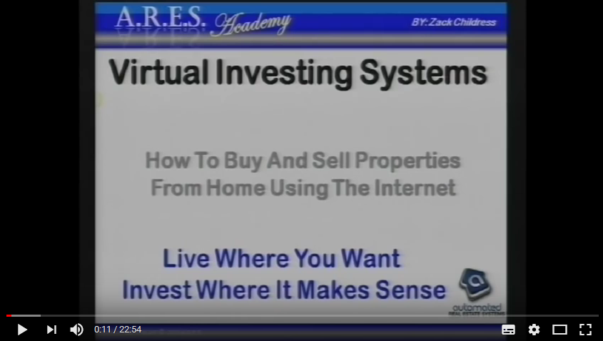 Virtual real estate investing video